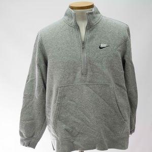 Nike Mens Standard Fit Zip Sweatshirt Gray NWT